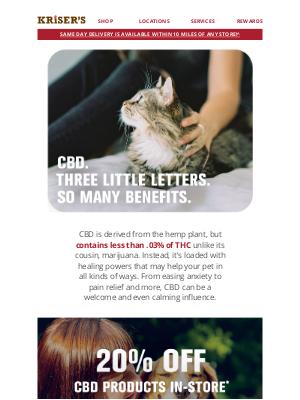Kriser's Natural Pet - CBD. Natural Relief.