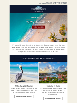 Oceania Cruises - Excursions Included: Blissful Caribbean Experiences