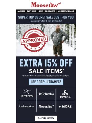 EXTRA 15% Off - Super Top Secret Sale 🤫