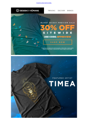 DesignByHumans - Black Friday Preview + Featured Artist? It's Your Lucky Day!