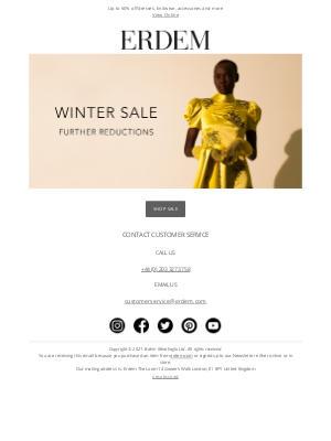 Erdem Moralioglu Ltd (UK) - Winter Sale | Further Reductions