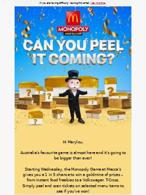 McDonalds Australia - Can you peel it coming? 🎩