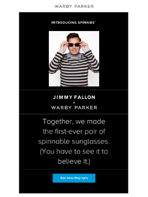 Jimmy Fallon walks into Warby Parker...