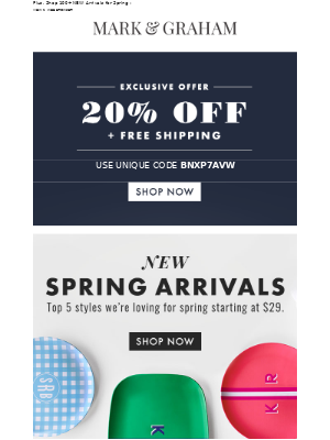 Just For You: 20% Off + Free Shipping!