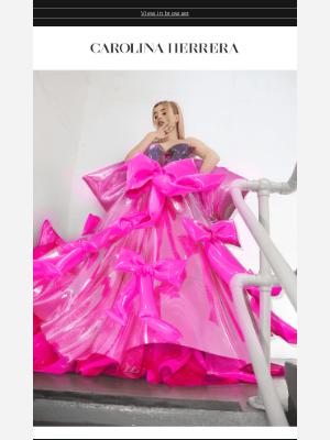 Carolina Herrera - Fresh off the Runway: Download your Carolina Herrera x Tribute Brand Cyber Dress now