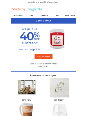 Shutterfly - Did you leave something behind?