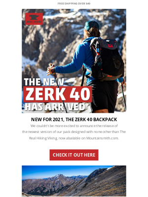 Mountainsmith - THE NEW ZERK 40 HAS ARRIVED