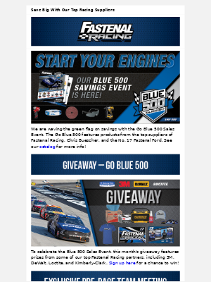 Fastenal - The Blue 500 Sales Event Is Off To The Races!