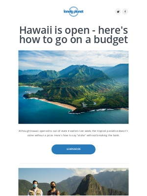 Lonely Planet - Hawaii is now open. Here's how to save.