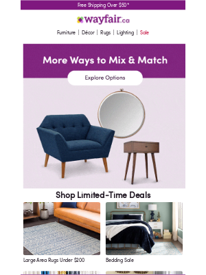 Wayfair (CA) - Accent chairs, end tables & more!