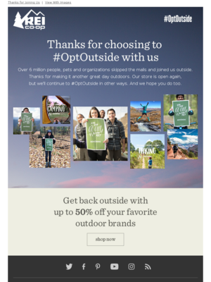 REI - Over 6 Million of You Chose to #OptOutside