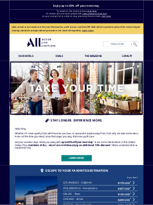 Fairmont Hotels - Take your time at amazing US destinations, Amy