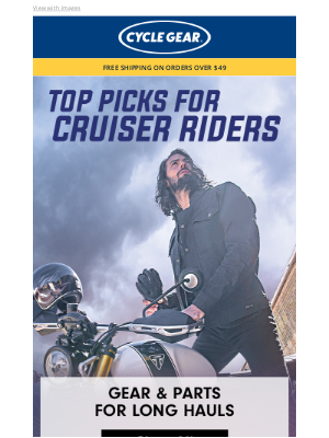 Top Picks For Cruiser Riders