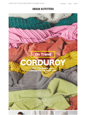 all-corduroy everything + 10% OFF for Students!