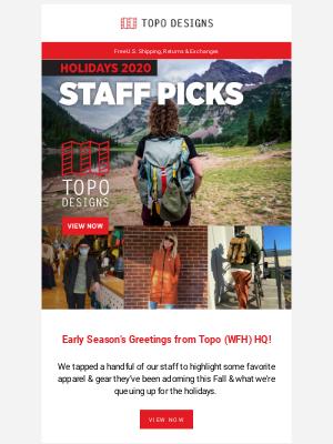 Topo Designs - Staff Picks & Gift Guides