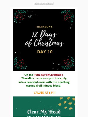 TheraBox - DAY 10 of TheraBox's 12 Days of Christmas Giveaway! ⛄