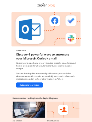 Zapier - Do more with Microsoft Outlook email