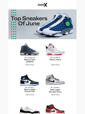 This Month's Top Kicks Are…👟