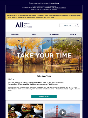 Fairmont Hotels - Amy, are you ready to fall for ALL?