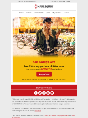 Harlequin - Fall savings for you! 🍂