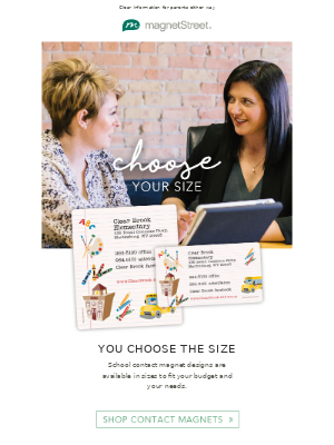 MagnetStreet - Get the size that fits your needs!