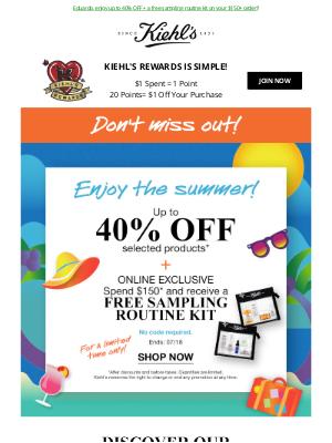 Kiehl's (CA) - Cool Off With Kiehl's 😎