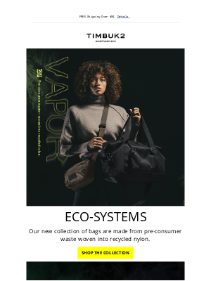 Timbuk2 - Four New Bags, Zero Waste