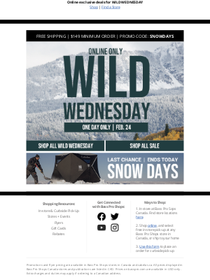 Bass Pro Shops - One-Day Only Savings Start NOW