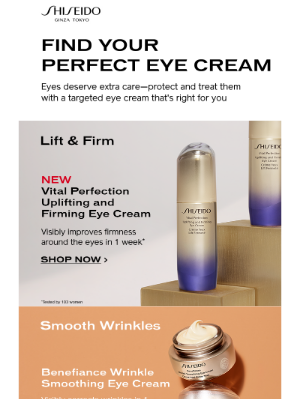 Shiseido - There's an Eye Cream for That