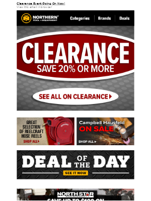 Save 20% or More on All Clearance Deals!