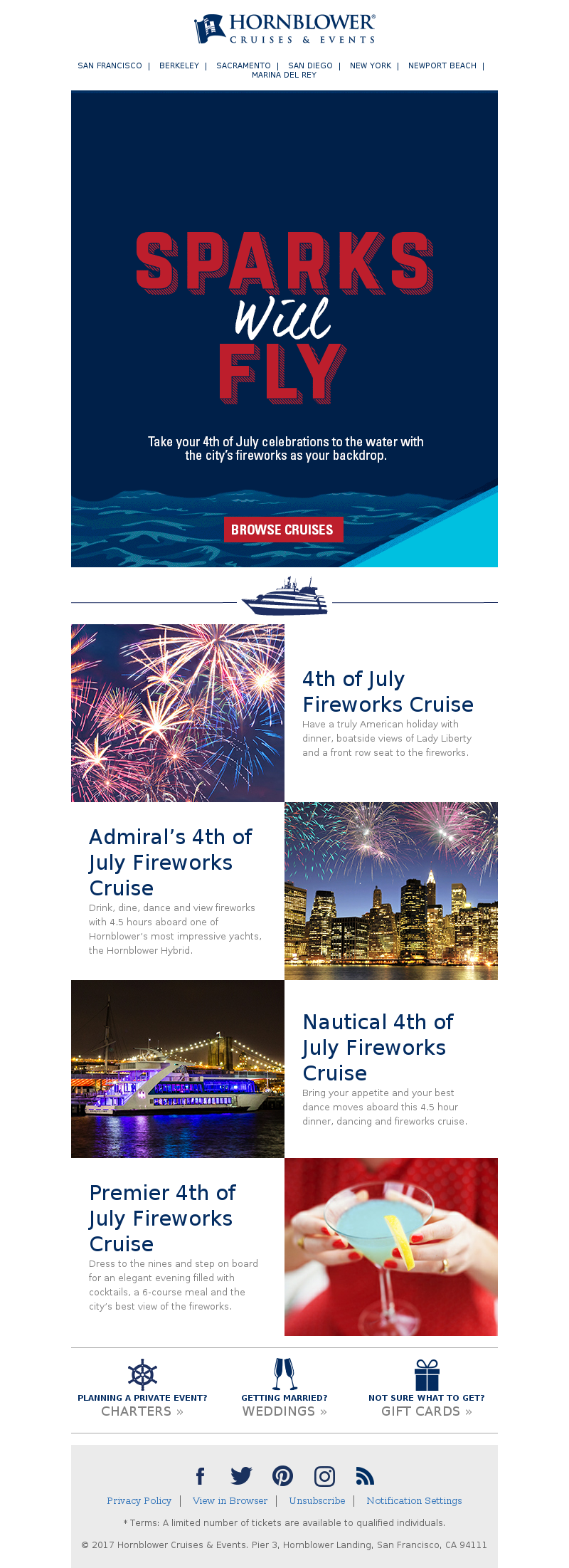 Book your 4th of July cruise now Hornblower Cruises & Events SAN FRANCISCO