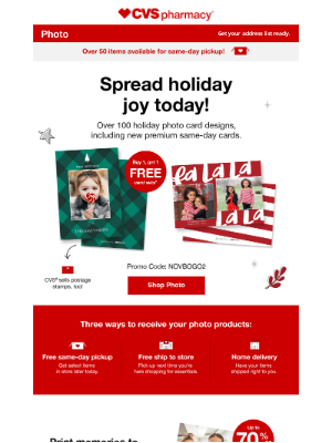CVS Pharmacy - BOGO Card Sets, Including NEW Premium Same-Day Cards.