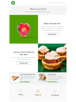 Publix Super Markets - Members: Update your interests today