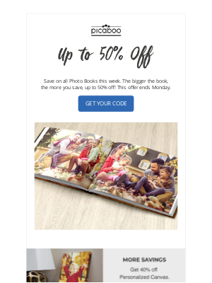 Picaboo - Save on Photo Books All Week!