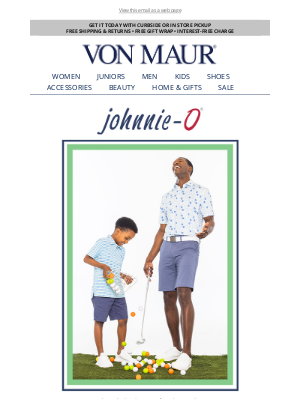 Von Maur - The Perfect Father's Day Gift: Johnnie-O!