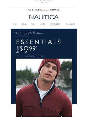 Nautica - $9.99+ Essentials inside