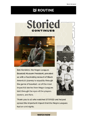 Routine Baseball - The Story of the Negro Leagues Continues