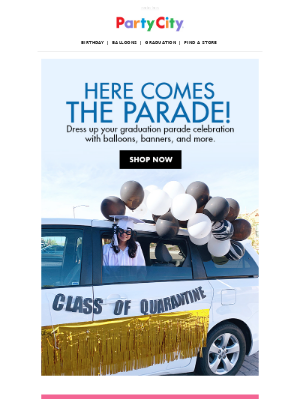 Get ready for the ultimate grad parade.