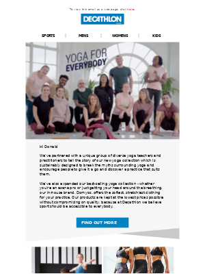Decathlon (UK) - Yoga for Everybody 🧘