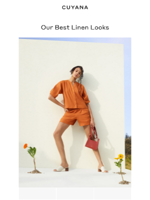 Cuyana - Bright Linen Looks For Summer