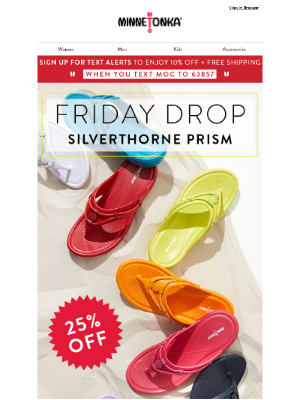 25% Off our #1 New Sandal
