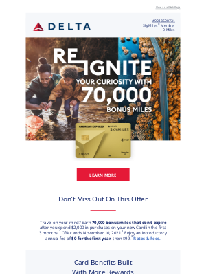 Delta Air Lines - Earn 70,000 Bonus Miles With This Limited Time Offer