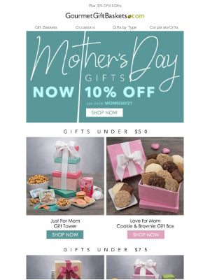 GourmetGiftBaskets - Gifts For Mom Starting At $30
