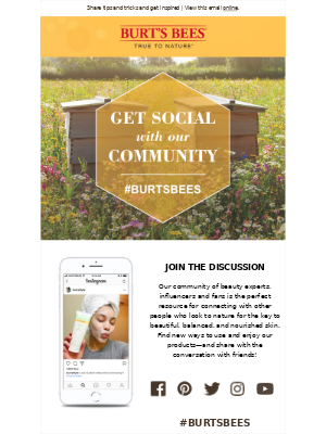 The Burt's Bees community is here for you.