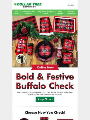 Dollar Tree - We've Got Buffalo Check on Deck!