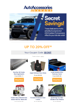 AutoAccessoriesGarage - The Secret Sale has begun!