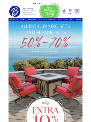 EXTRA 10% Off Patio Sets