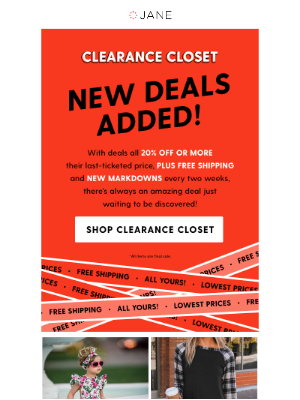 Jane - Score MORE with Clearance Closet