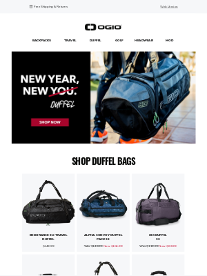 Ogio - 30% Off Select Bags + More! | Shop The Fresh Start Sale