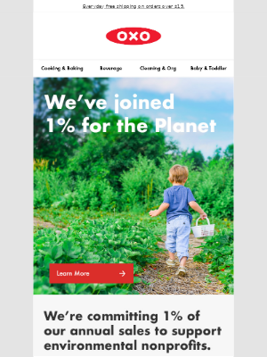 OXO - Our planet. Our home. Our commitment.